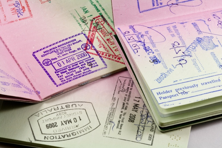 passports with visa stamps for asia